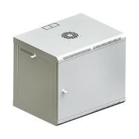 """Шкаф телекоммуникационный 19 """", настенный 9U (505х600х600) двери металл, серый"""