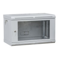 "Шкаф телекоммуникационный 19 "", настенный 9U (505х600х600) двери акрил, серый"