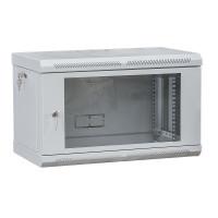 "Шкаф телекоммуникационный 19 "", настенный 6U (370х600х450) двери акрил, серый"